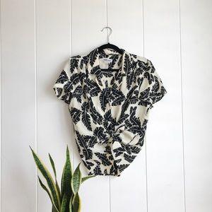 80s Vintage Aloha Print Button up Shirt